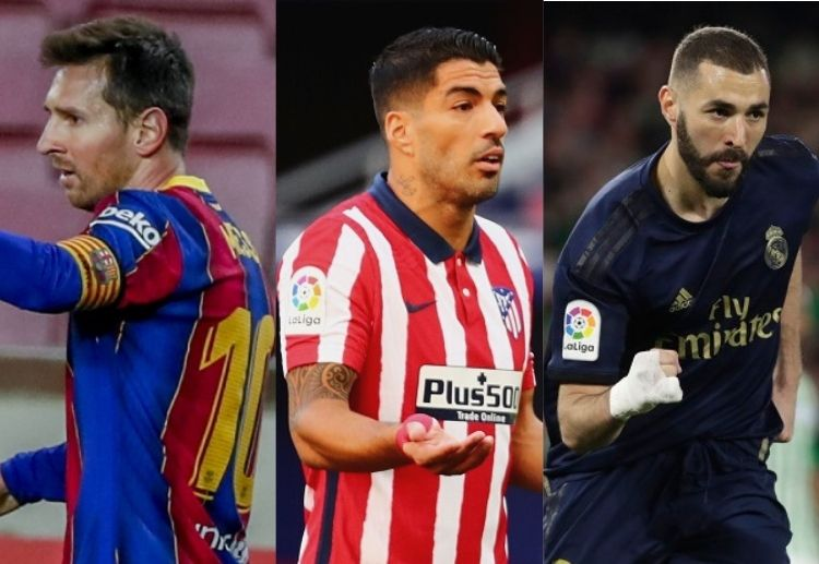 Luis Suarez's Atletico Madrid have won La Liga after a gap of seven years, while Messi's Barcelona and Benzema's Real Madrid hope to bounce back from the slump.